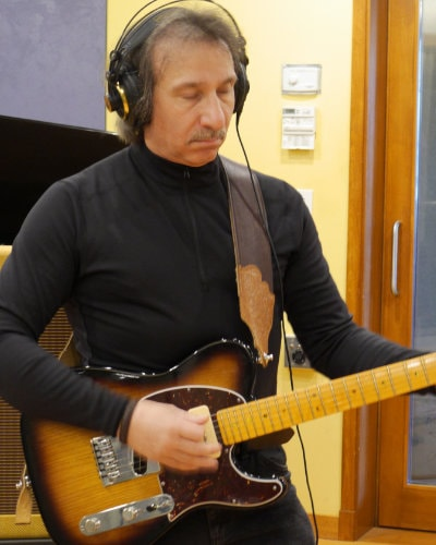 Americana Artist Mike T. Marino In Studio